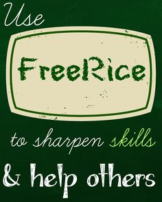 Use FreeRice in your classroom and help donate food to those in need!