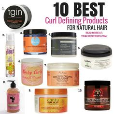 10 Best Curl Defining Products For Natural Hair - Trials N Tresses - This is product junkie heaven. If you are struggling with defining your twist outs here are 10 of the best curl defining products for natural hair. Best Natural Hair Products, Natural Hair Care Tips, Curly Hair Tips, Curly Hair Styles, Best Curl Products, 4c Hair Products, Curly Ponytail, Ponytail Styles, 4a Hair Tips
