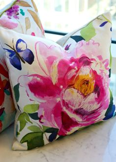 Gorgeous watecolor pillow by @bluebellgray