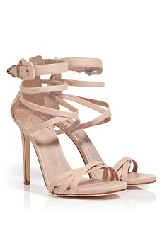 Nude Leather Strappy Sandals / Le Silla.