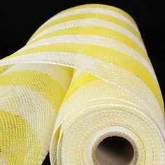 "White and Yellow Checkered Pattern Deco Mesh Craft Ribbon 21"" x 40 Yards * Visit the image link more details."