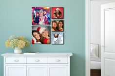 instead of (from for a set of 5 handmade floating photo prints - save Television Stands, Front Door Signs, Home Comforts, House Numbers, Glass House, Home Signs, Storage Shelves, Design Your Own