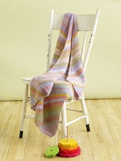 Free Knitting Pattern: Rosy Diagonal Baby Throw