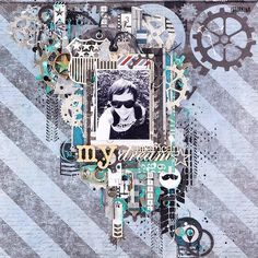 Layout about my lovely husband. He is my American dream! В блоге страничка про моего любимого мужчину. Делала её как ПД для блога @crazylaser. #скрап #скрапбукинг #страничка #scrap #scrapbooking #layout #wycinanka #фабрика_декора #13arts #7dotsstudio #handmade #istorkinascrap #silhouettecameo