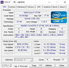 screenshot of CPU-Z validation for Dump [jeb3nm] - Submitted by  Gamer 5.0  - 2017-04-20 22:24:27