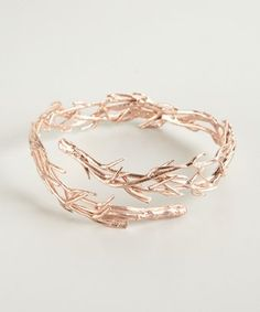 BoyNYC rose gold plated thorn cuff | BLUEFLY up to 70% off designer brands at bluefly.com