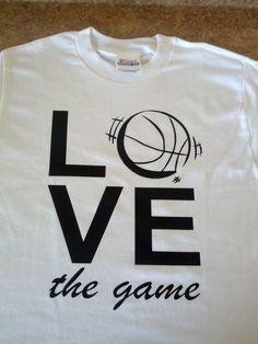 LOVE basketball game t-shirt. $15.95, via Etsy.