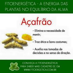 Açafrão. Vegan Recipes, Cooking Recipes, Plant Health, Healthy Mind And Body, Medicinal Herbs, Alternative Medicine, Wicca, Home Remedies, Herbalism