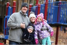 Brooke Richardson and her husband Steve Lamb with two of their three children: Kai, 1, and Holly, 5. They're among the many families that won't see any benefit from the Stephen Harper government's income-splitting plan.