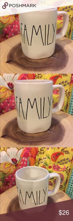 Rae Dunn Family Mug Big Letter. Mother's Day Rae Dunn Family Mug Big letter mug    No chips or cracks  Mother's Day Wedding Anniversary  Bridal shower   Packed with care   Rae Dunn clay Farmhouse chic Country Magnolia Rae Dunn Other