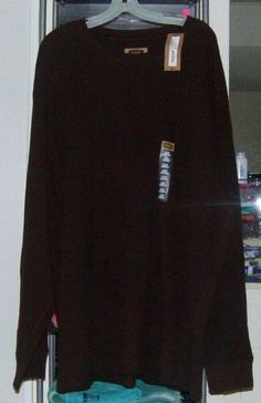 FOUNDRY 4XLT Big & Tall L/S Chocolate Brown Crewneck 100% Cotton Thermal NWT #FoundrySupply #Crewneck