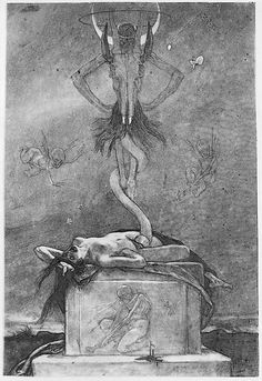 The Sacrifice, from The Satanic Ones Félicien Rops