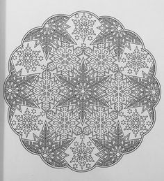 Coloring Pages Winter, Mandala Coloring Pages, Colouring Pages, Adult Coloring Pages, Creative Haven Coloring Books, Painting Templates, Paper Snowflakes, Dot Painting, Digital Stamps