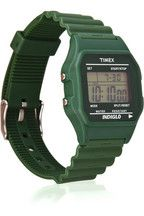 Timex digital watch. forest green :)