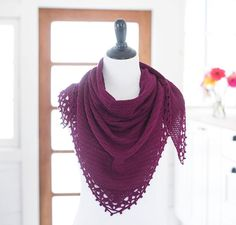 Antistrophe Shawl Crochet Kit by Miriam Felton featuring Cloudborn Merino Superwash Sock Twist Yarn $22.50$30.00