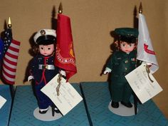 "Madame Alexander Doll 8"" Armed Forces SET OF 4 Army Navy Marine AIR Force 