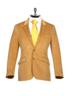 Beige Cord Sports Jacket - Harvie & Hudson