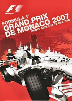 2007 • STATS F1 Fernando Alonso Mclaren, Stock Car, Gp F1, Monaco Grand Prix, Car Posters, Event Posters, Vintage Racing, Courses, Nascar