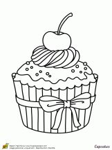 Cupcakes, sorvetes, bolos e doces (Cupcakes, ice creams, cakes and sweets) Cupcake Coloring Pages, Food Coloring Pages, Coloring Pages For Boys, Free Printable Coloring Pages, Coloring Sheets, Coloring Books, Cupcake Art, Cute Cupcake Drawing, Digi Stamps
