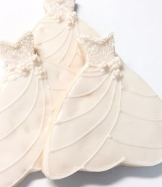 Wedding Dress Cookie Iced Decorated Sugar Cookie Pearl Sparkle Bridal Favor on Etsy, $32.95