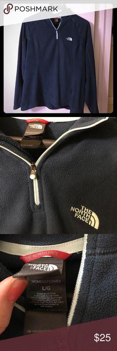 The North Face Women's Blue Fleece Size Large The North Face Women's Polartec Classic Fleece. Dark Blue. Light Blue Quarter Zip. Size Large. 100% Polyester. Super soft! The North Face Jackets & Coats