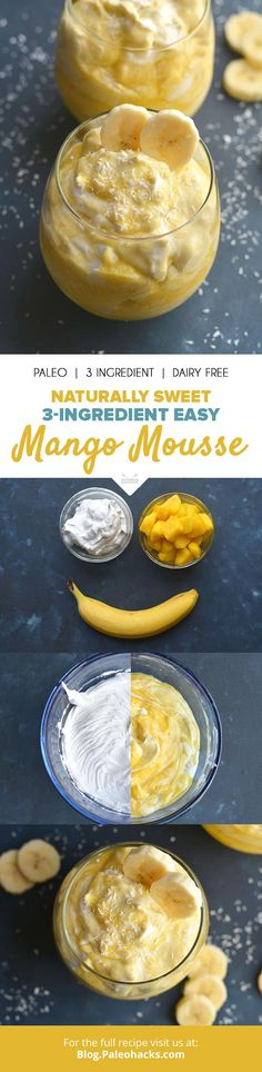 Blend up this light and fluffy mango mousse for a tropical treat you can enjoy year-round! Get the full recipe here: http://paleo.co/mangomoussercp