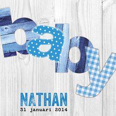 Baby blauw - Geboortekaartje www.carddreams.be