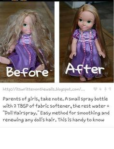 How to fix dolls hair like new