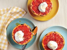 Not overly sweet, this elegant, seasonal dessert is a grapefruit-lover's delight. To whip the maple-infused cream into fluffy peaks with...