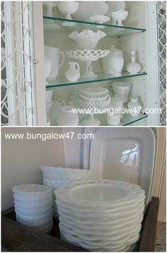 Wish we could find the dinner plates. Love milk Glass!