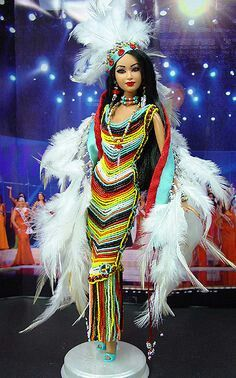 barbie native indian beaded