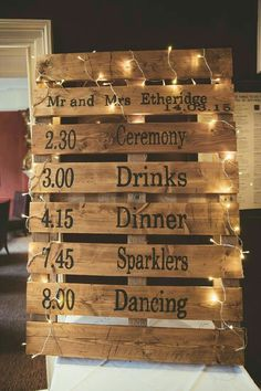stunning lighted wooden pallet rustic wedding sign decor ideas