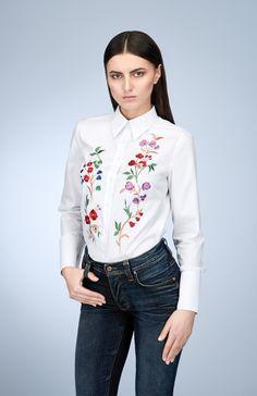 My Carmele Flower Blouse — Bora Bohème Flower Shirt, My Flower, Flowers, Ethical Fashion, Fashion Forward, Bag Accessories, Button Up, Bomber Jacket, Lady