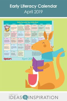 Give parents fun ways to build literacy skills at home this April with a month full of early literacy activities they can do with their little ones Find fun celebrations, like Animal Crackers Day; Literacy Skills, Early Literacy, Free Activities, Literacy Activities, Little Free Libraries, Free Library, Before Kindergarten, Math Writing, Reading Themes