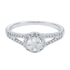 Helzberg Diamond Symphonies® Mosaica 1/2 ct. tw. Diamond Engagement Ring in 14K Gold, available at #HelzbergDiamonds