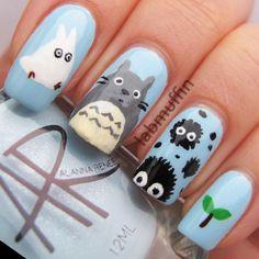 totoro nail art - Google Search