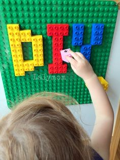 DIY Removable, Non-Permanent LEGO Wall for Kids. I love this idea for a kids' playroom!