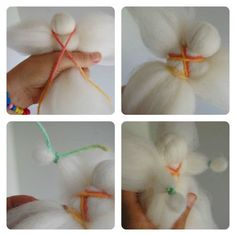 how to make fairy wool dolls4