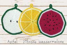 DIY Video Anleitung: Topflappen häkeln // diy video tutorial: how to crochet oven cloths, pot holders via DaWanda.com
