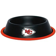 Kansas City Chiefs Stainless Dog Bowl >>> You can get more details by clicking on the image.(This is an Amazon affiliate link and I receive a commission for the sales)