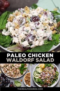 Healthy eating is made easy & delicious with this Waldorf Chicken Salad! A perfect recipe for your weekend meal prep or last minute lunch! Waldorf Chicken Salad, Paleo Chicken Salad, Paleo Chicken Recipes, Paleo Recipes, Whole Food Recipes, Salad With Chicken, Shredded Chicken Recipes, Recipes Dinner, Sweets
