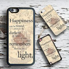 Happyness quotes harry potter case Wallet iPhone 4 5s von OWALLET
