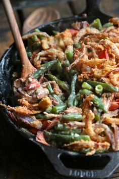 Smoked Salmon Green Bean Casserole - This green bean casserole will be a new family favorite!! www.countrycleaver.com
