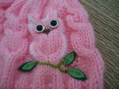 Receita de Tricô: Gorro de tricô corujinhas                              …