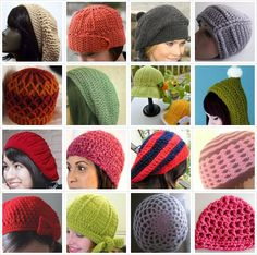 25+ Free Crocheted Hat Patterns** pinned some before but nice to see pictures!!**
