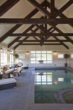 Swimming pool in the barn, now if I only had a Barn!