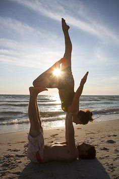 Check out I'm working toward a goal of one day doing acroyoga. It's breathtaking a...