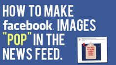 A Subtle Way to Make Your Images Pop on the News Feed Facebook Business, Facebook Marketing, Social Media Marketing, Online Marketing, Mobile Marketing, Content Marketing, Make Facebook, Facebook Image, Social Media Training