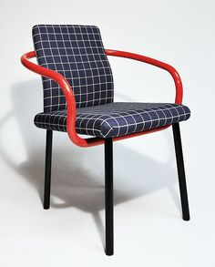 Mandarin Chair Ettore Sottsass, for Knoll, 1986 (source: aqqdesign.com) / More visual inspiration on Interiorator.com - transmitting tomorrow's trends today on http://www.interiorator.com