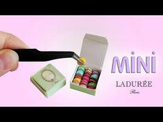 Realistic Miniature Ladurée Macarons & Box - Polymer Clay Tutorial - YouTube